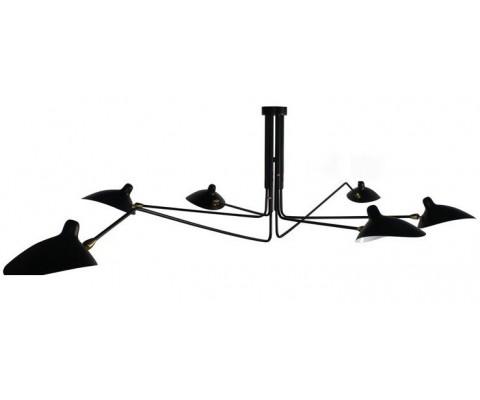 Lámpara suspendida SERGE MOUILLE. PLAFONNIER 6 BRAS FIXES